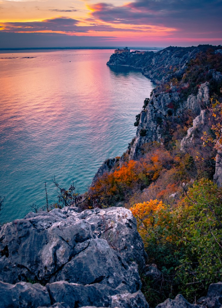 Breath-taking view on the coastline of the Gulf of Trieste