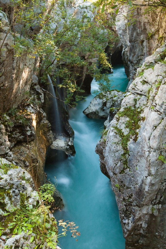 MaroWays View of the Great Soča gorge filled with deep emerald-green pools