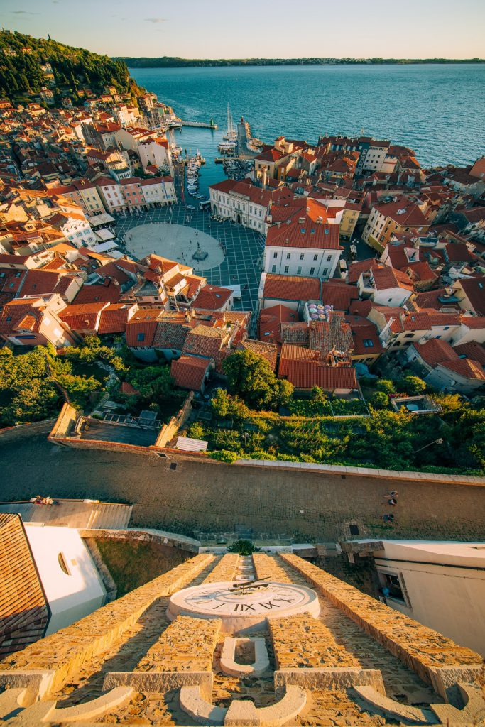 MaroWays Spectacular view of the Tartini square from the bell tower of Piran