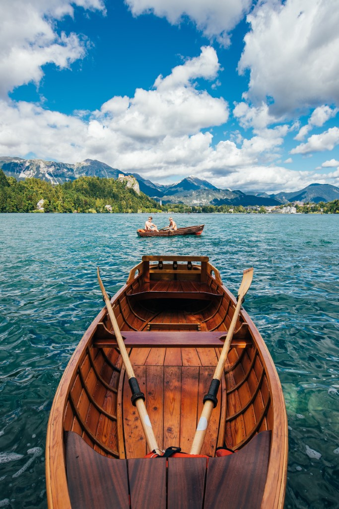 MaroWays Typical boat pletna on the lake Bled