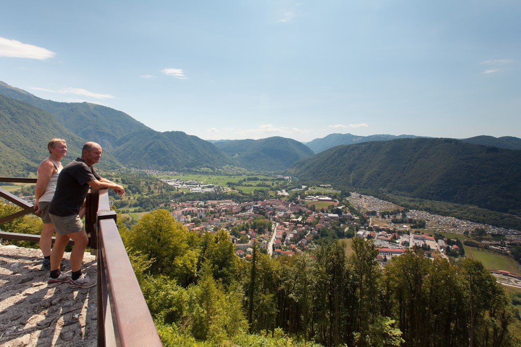 MaroWays Panoramic view of Tolmin and Upper Soča Valley from Kozlov rob